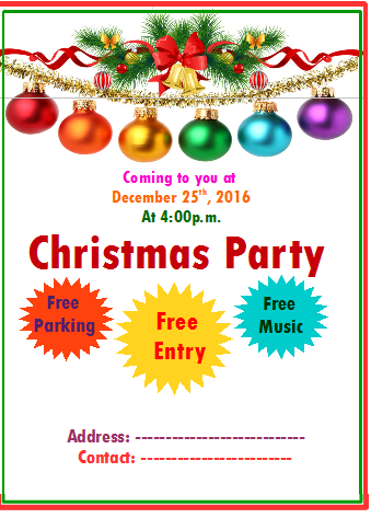 christmas party brochure