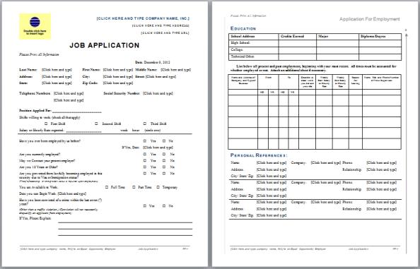 Job Application Form 02