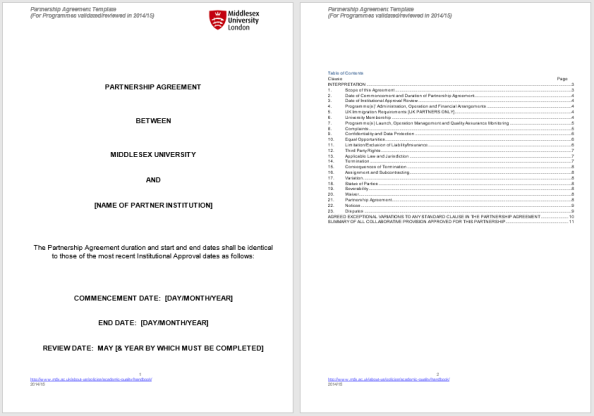 Partnership Agreement Template 2