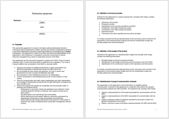 Partnership Agreement Template 3