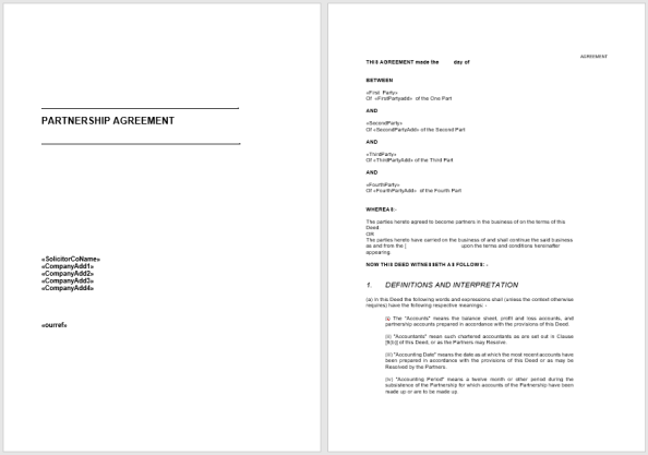 Partnership Agreement Template 5