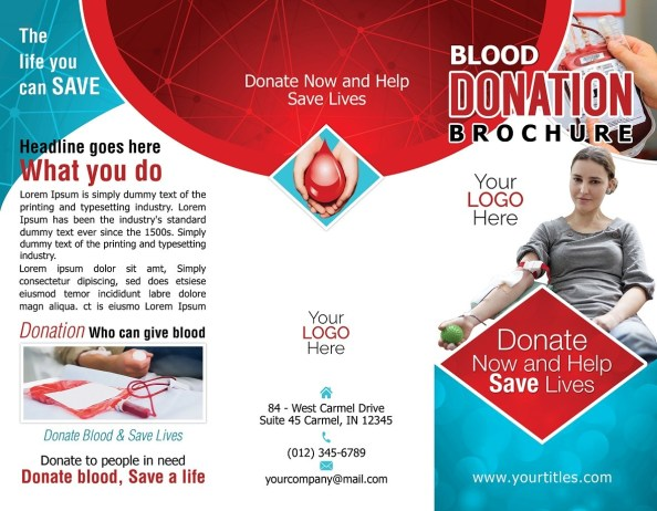 Blood Donation Brochure Outside